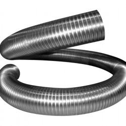 Воздуховод (газоход) гибкий гофрированный из нержавейки D 120мм длина 3м