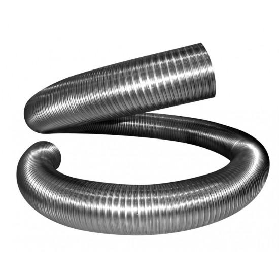 Воздуховод (газоход) гибкий гофрированный из нержавейки D 100мм длина 1,5м