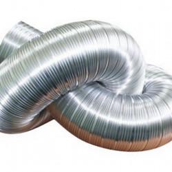 Воздуховод гибкий гофрированный алюминиевый D 100 длина 2,5м